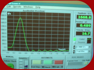 Mechanical shock test control software